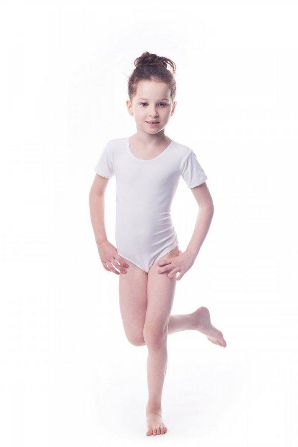 Body gimnastyczne lycra (B7) krótki rękaw Shepa