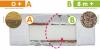 malooni, materac do łóżeczka, gryko lux komfort line,  120x60cm
