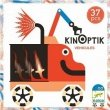 Djeco, Kinoptik, pojazdy, magnetyczna, układanka kreatywna