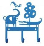 Klippan, wieszak metalowy, safari niebieski