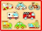 Joueco, drewniane puzzle pojazdy