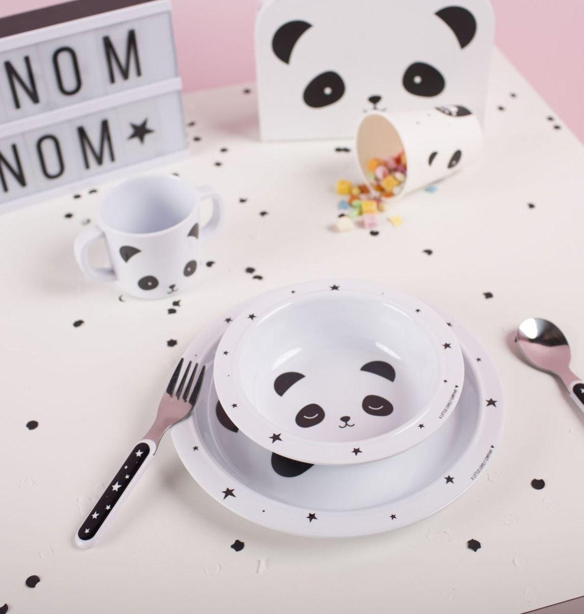A Little Lovely Company, zestaw obiadowy, panda, 5 el  - Zestawy