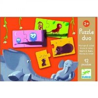 Djeco, puzzle duo, mamusie i dzieci