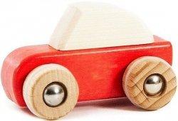Bajo, drewniane autko speed, z napędem czerwone