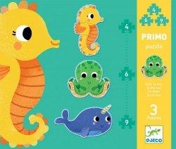 Djeco, puzzle progresywne, w morzu