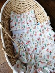 Cuddle Dreams, otulacz bambusowy - Lamy, duży