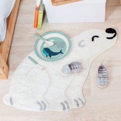 Sassandbelle, bawełniany dywanik, miś polarny