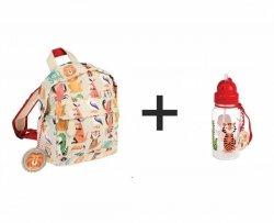 Rex, komplet: plecak + bidon, zwierzątka