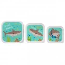 Sassandbell, zestaw 3 lunch boxów, rekiny