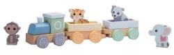 Joueco, drewniany pociąg, WIldies family