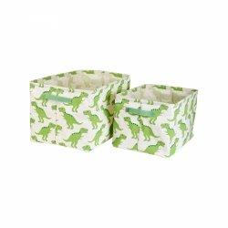 Sassandbell, zestaw 2 pudełek do przechowywania, dinozaury