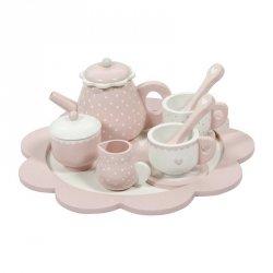 Littl Dutch, drewniany zestaw do herbatki, różowy