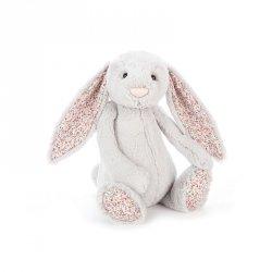 jellycat, królik szary kolorowe uszy 36cm