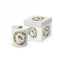 PPD, kubek w prezentowym pudełku rudzik i wiewiórka 350ml
