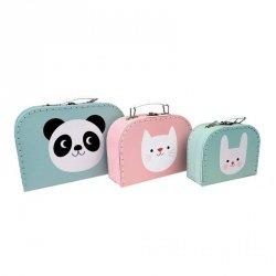 Rex, komplet 3 walizeczek, panda i przyjaciele