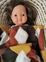 Olimi, sweterkowy kocyk retro romby