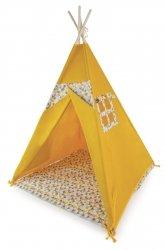 Aja baby, namiot tipi, żółty / trójkąty