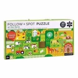 Petit Collage, puzzle z labiryntem, farma