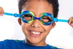 Bling2O, okularki do pływania, dinozaur, niebieskie, 3+