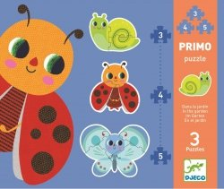 Djeco, puzzle progresywne, w ogrodzie