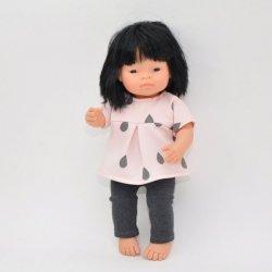 tunika + legginsy, dla lalki Miniland 38cm
