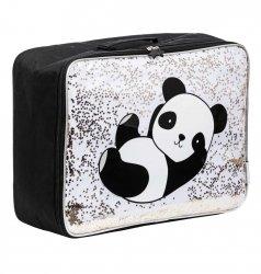 ALLC, walizeczka z tkaniny z brokatem,panda