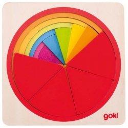Goki, puzzle warstwowe, koło