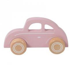 Little Dutch, drewniane autko Beetle, różowe