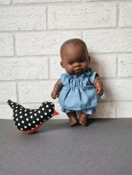 Olimi, komplet jeansowy dla lalki Miniland 21cm