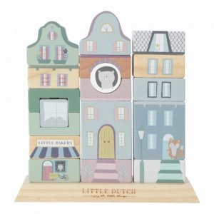 Little Dutch, drewniana kamieniczka, miętowa