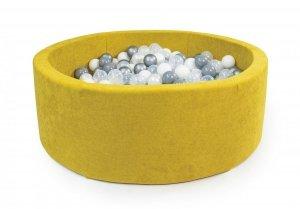 Suchy basen, + 250 piłeczek, okrągły, 90x30cm, różne kolory