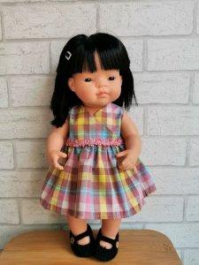 Olimi, sukienka kopertowa w kratkę
