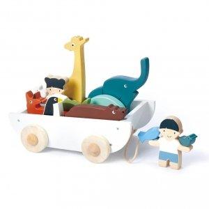 Tender leaf toys, statek ze zwierzątkami,