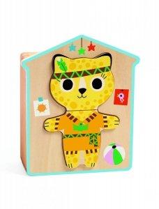 Djeco, puzzle drewniane - ubieram się