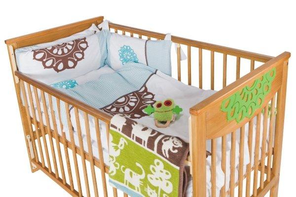 malooni, Koronka, łóżeczko 120x60cm, BASIC, antyczna sosna