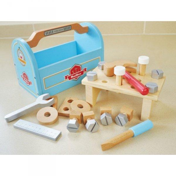 Indigo Jamm, drewniana skrzynka z narzędziami,