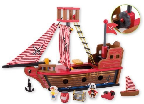 joueco, drewniany statek piracki