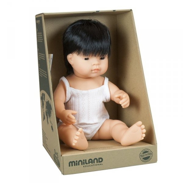 Miniland, lalka chłopiec, Azjata, 38cm