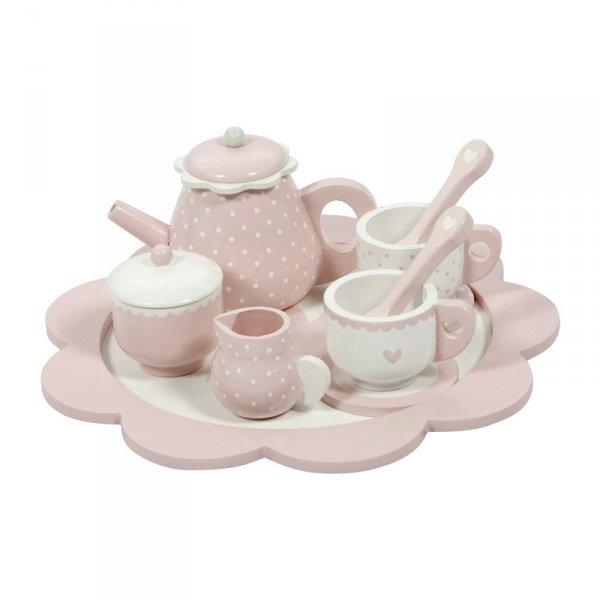 Little Dutch, drewniany zestaw do herbatki, różowy