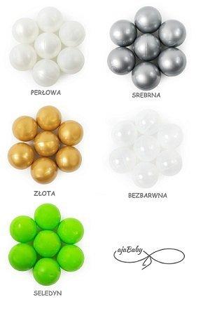 Ajababy, suchy basen 90x40 + 250 piłeczek - różne kolory