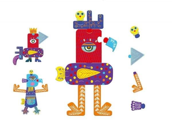 Djeco, puzzle kartonowe, giant Plum'zules