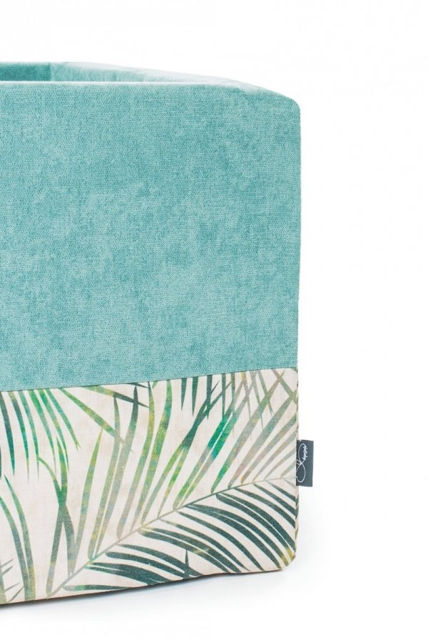 Suchy basen, + 250 piłeczek, kwadratowy, 90x90x40cm, palmy różne kolory