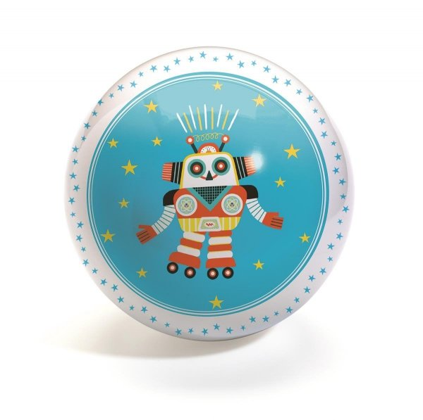 Djeco, piłka gumowa, robot