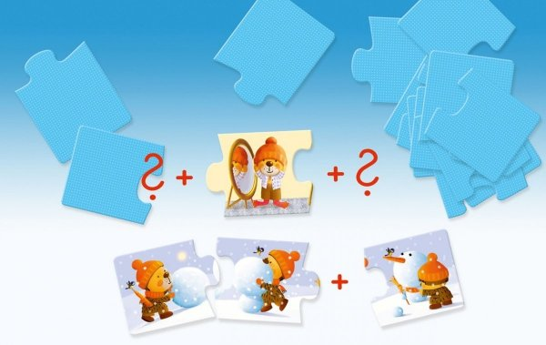 Granna, puzzle 3 elem., historie, Mały miś,