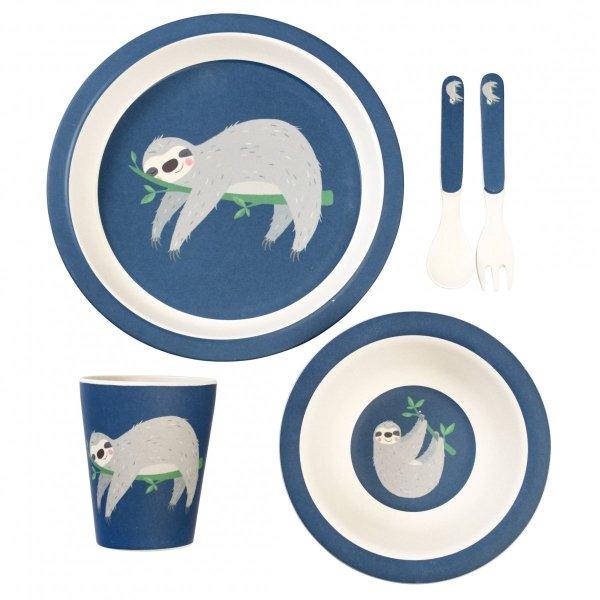 Rex, zestaw naczyń bambusowych, leniwiec
