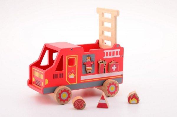 Joueco, drewniany wóz strażacki