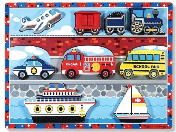 Melissa & Dough, puzzle drewniane, pojazdy