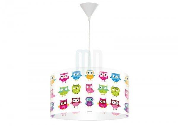 Macodesign, lampa wisząca, kolorowe sowy