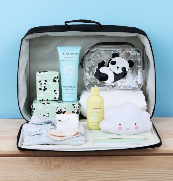 ALLC, walizeczka z brokatem,panda