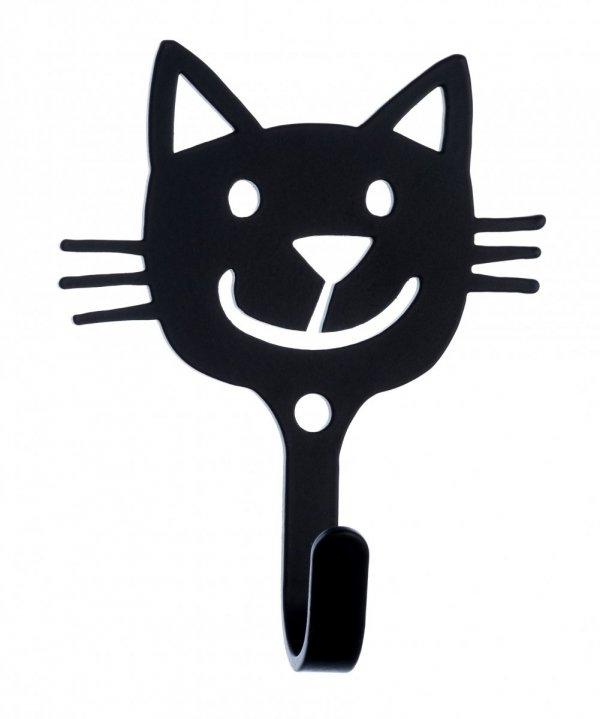 Klippan, wieszak metalowy, kot, niebieski i czarny